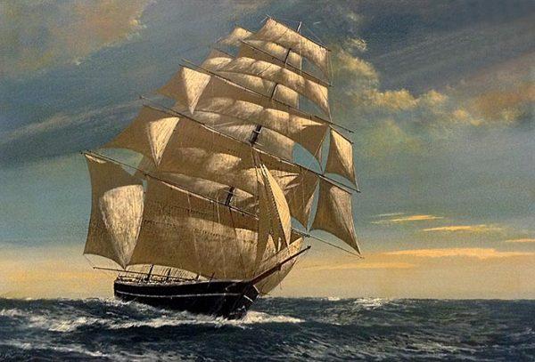Scott Duncan Clipper Ship sailing on ocean