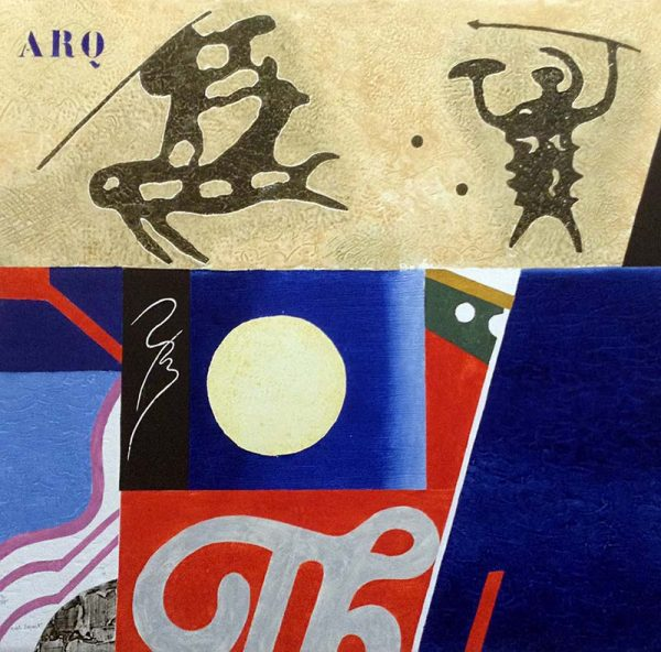Max Papart - Combat Nocturne print of abstract shapes and figures