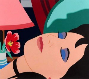 Tom Wesselmann: Cynthia in the Bedroom print of woman's sleeping face