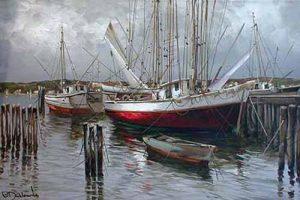 Nidia D'Alesandro Tied Up fishing boat at dock