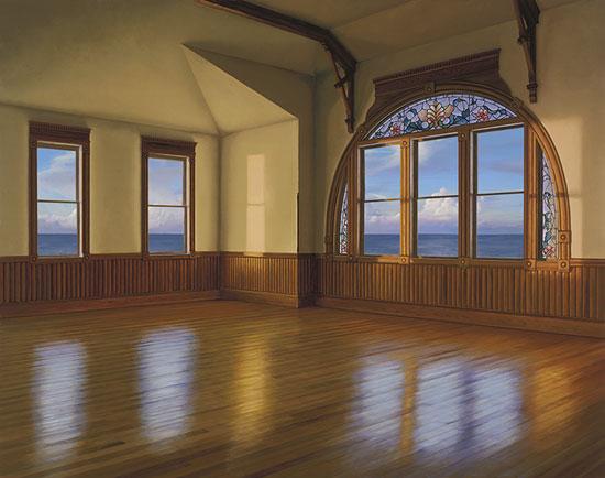 Edward Gordon - Daybreak - giclee of a large room with windows