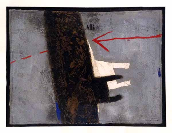 James Coignard Determination d'un Axe (30x40 carborundum engraving etching) abstract geometric shapes and typography