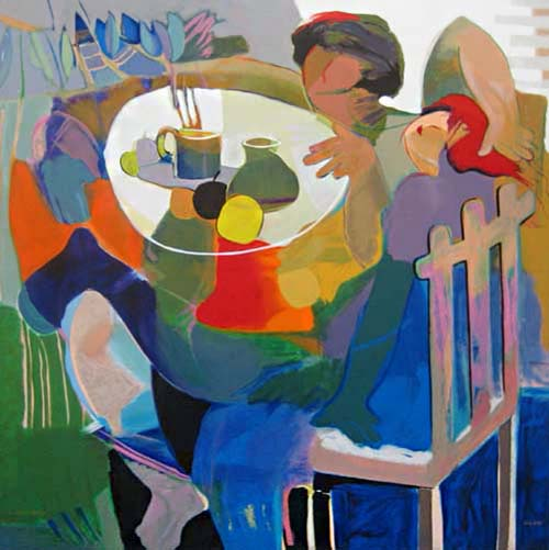 Hessam Abrishami - Dream Lover's Day print of two people sitting at a table