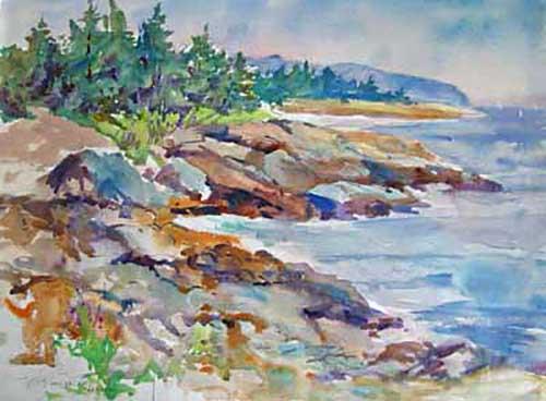 Peter Spataro - Drift Inn Beach watercolor painting