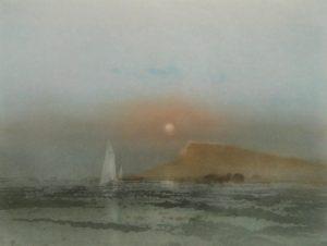 Kaiko Moti - Evening Passage (22x30 etching on paper)
