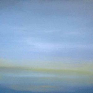 Dannielle Mick Green Blue Abstract Contemporary Seascape