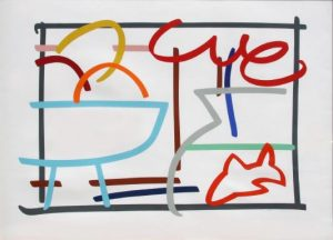 Tom Wesselmann: Fast Sketch Still Life With Goldfish (57x78 serigraph screen print) signed and Numbered