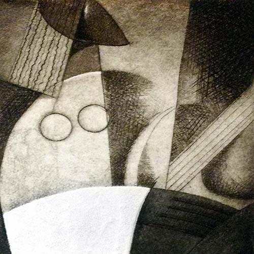 Joseph Holston - Feminine Fingers print of woman playing string instrument