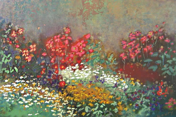 Aleah Koury - Floral Garden serigraph of wildflowers