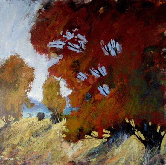 Michael Tienhaara abstract landscape painting of trees