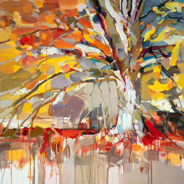 Josef Kote - Golden Tree (40x40 giclee on canvas)