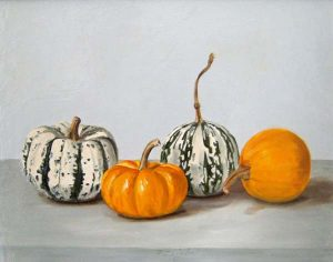 Patti Zeigler Still-Life Painting of Four Gourds