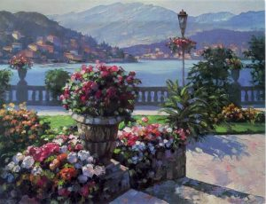 Howard Behrens - Grand Hotel (25x32 enhanced serigraph on canvas)