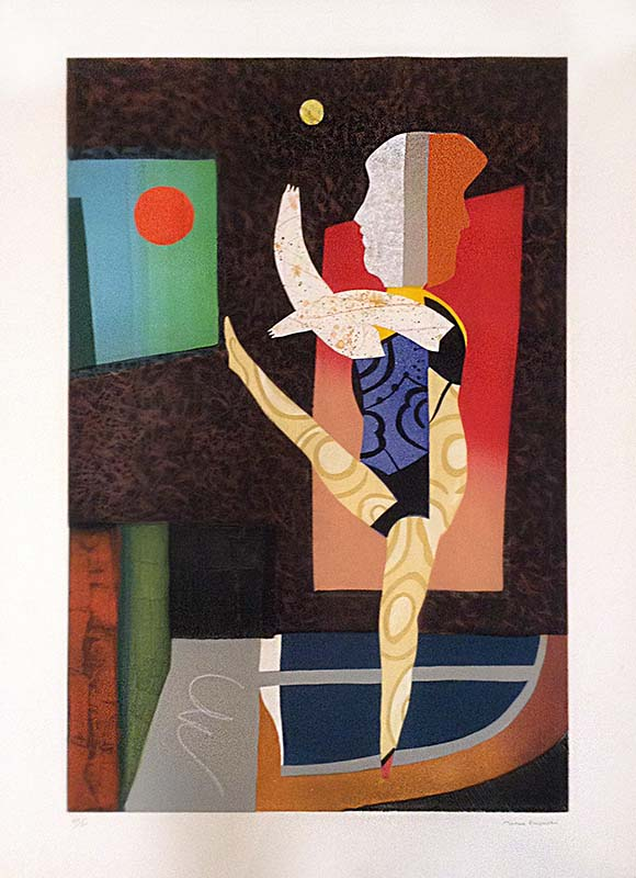 Max Papart - Hello Broadway print of abstract dancer