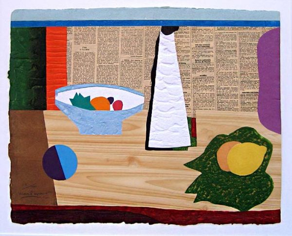 Max Papart - Homage a Picasso II print of abstract still life