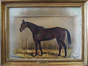 George Wright - Hesperus Magnus painting of horse