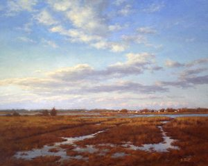 Hillary Scott Landscape Oil Painting of Marshland in North Shore