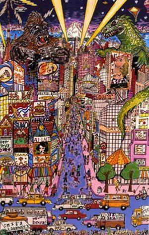 Charles Fazzino - Invasion of Ginza