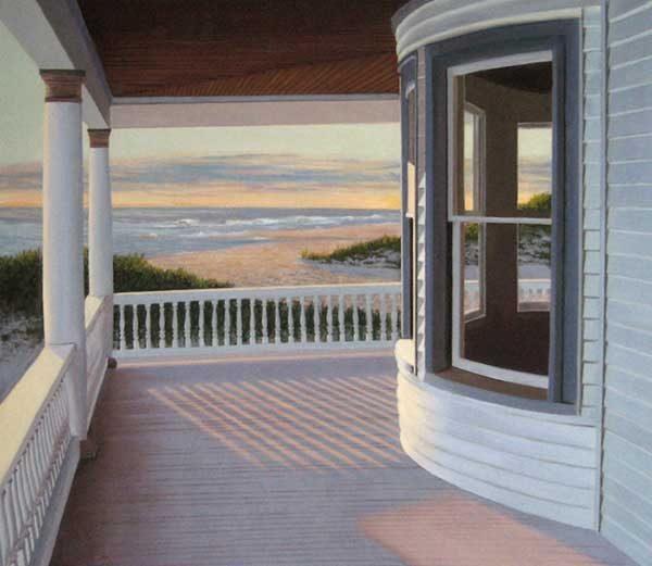Edward Gordon - Island Beach - Giclee of a beach house porch overlooking the ocean
