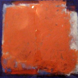 Jeff Ringdahl - Abstract - Abstract resin painting with red