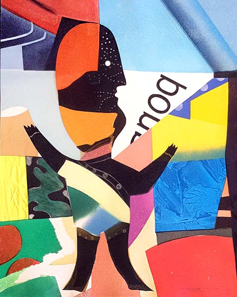 Max Papart - Joie d'Enfant print of stylized abstract representation of a child