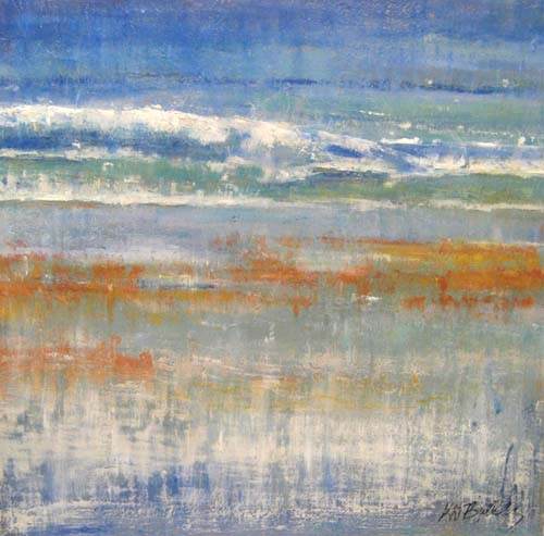 Kathleen Reilly - Land to Sea KDR07 Abstract painting of land and sea
