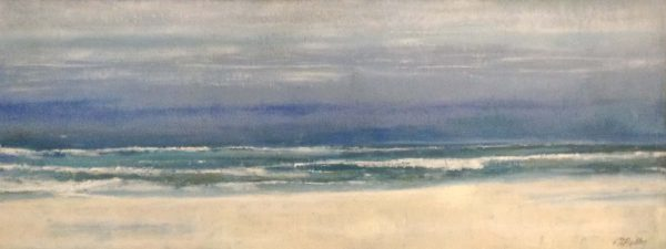 Kathleen Reilley contemporary encaustic on board of beach white sand