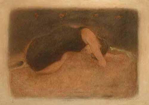 Roy Fairchild - Laura print of woman laying on floor