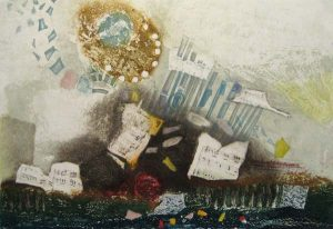 Nissan Engel - Lieder - Mixed media representation of musical abstraction