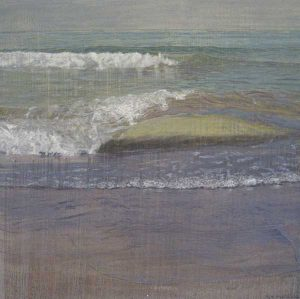Joseph Sampson -Painting of waves rolling onto the beach