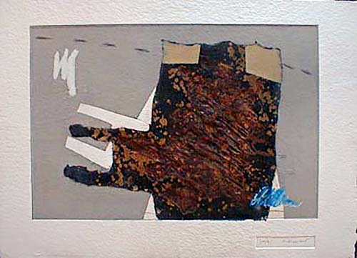 James Coignard Lumiere (19x25 carborundum engraving etching) abstract geometric shapes and lines