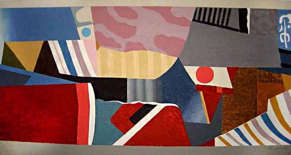 Max Papart - Manhattan Transfer print of abstract geometric shapes