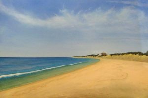 Ken Northup - Mare's Tales - Painting of a beautiful beach on a clear day