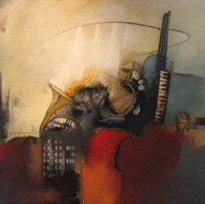 Emanuel Mattini Abstract painting of music