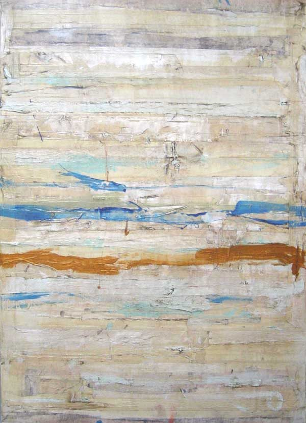 Peter Kuttner mixed media duct tape and oil paint on canvas