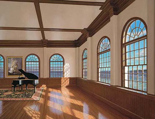 Edward Gordon - The Music Pier print of large room with grand piano