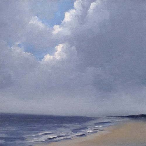 Danielle Mick Original Oil Painting on Canvas Mysterious Clouds