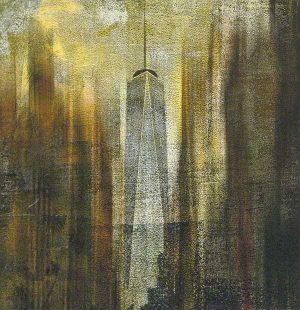 Stephen Rostler Sepia Photograph of New York City Skyline from Street