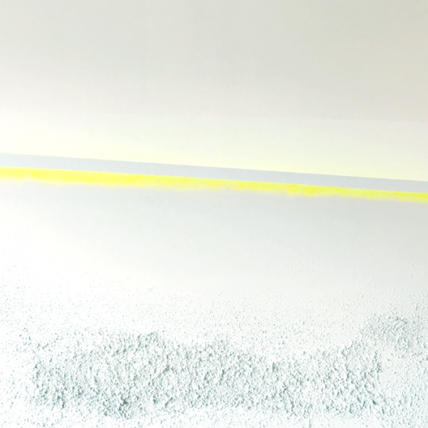 Wendy Shapiro Abstract Neon Yellow Acrylic with Sand Texture on Canvas