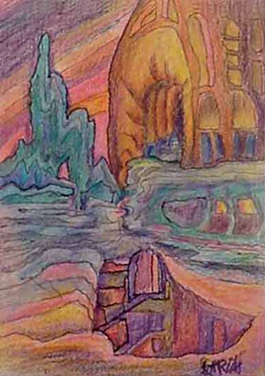 Jerry Garcia - Northern Lights hand signed limited edition print of abstract colorful rock formations
