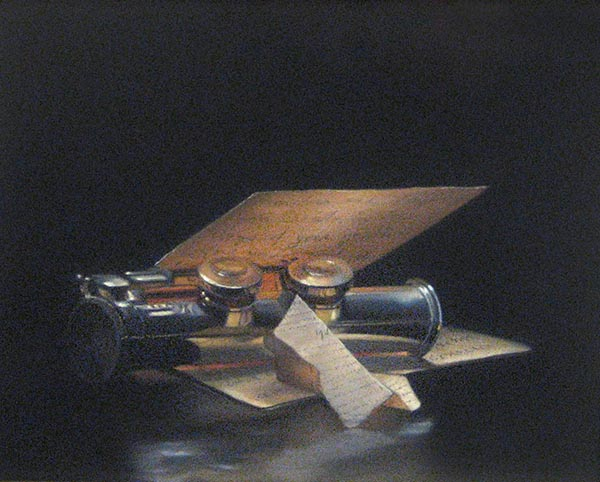 Nicora Gangi - Notes pastel painting of flute and musical notes