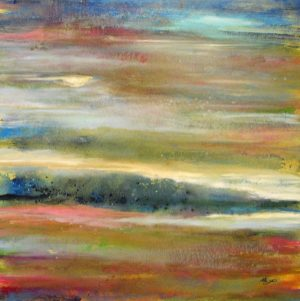Helen Zarin Oil on Canvas Painting of Ocean Landscape