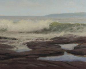 Ocean Salty Grey (8x10 oil on canvas)