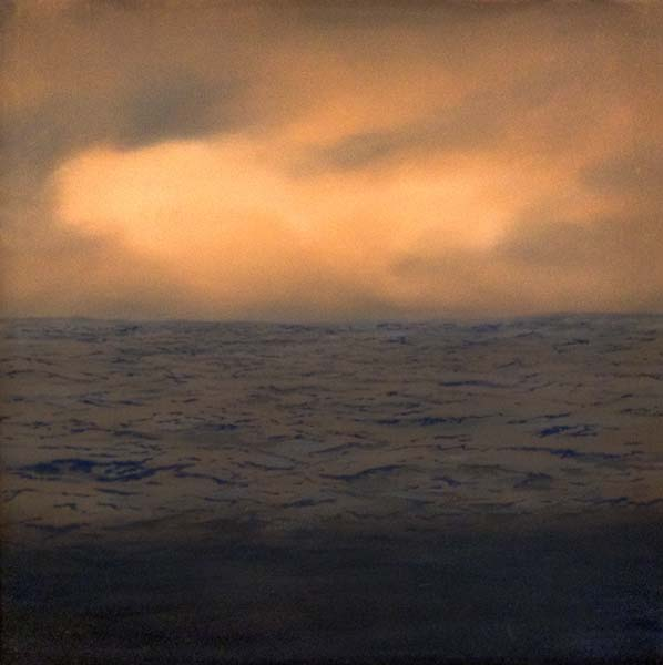 Suzanne Clifford Clark oil painting of ocean and sky