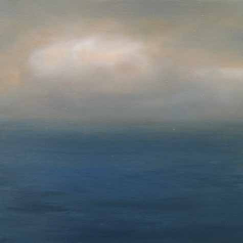 Suzanne Clifford Clark oil painting of open ocean with sky and horizon