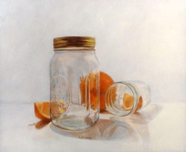 Susan Budash Still Life of Oranges and Mason Jars Still Life