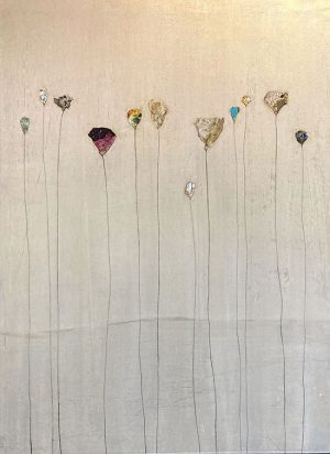 Peter Kuttner contemproary painting of tall flowers