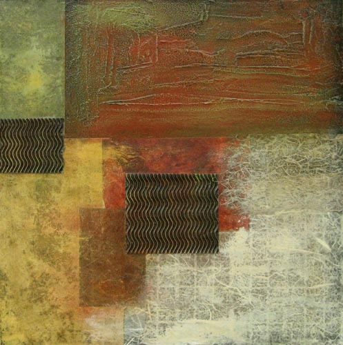 Paul Tiersky Abstract collage in neutral tones