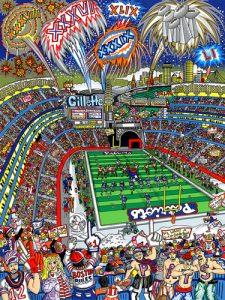Charles Fazzino - Patriot Nation - New England Football Superbowl
