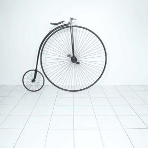 Photo of antique bicycle